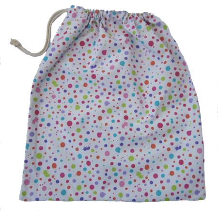 Pink Splash Library Bag