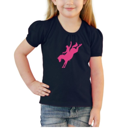Girls Tee Navy Bronco – Size 0 - Size 6