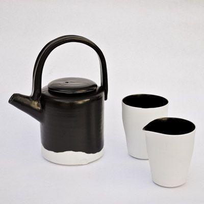 Black + White Beaker And Jug